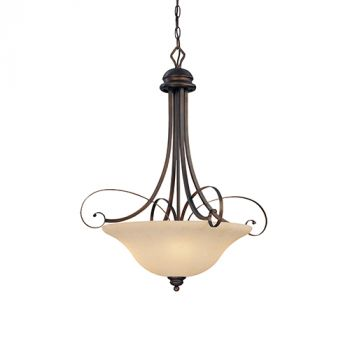 Millennium Lighting Chateau 4-Light Pendant in Rubbed Bronze