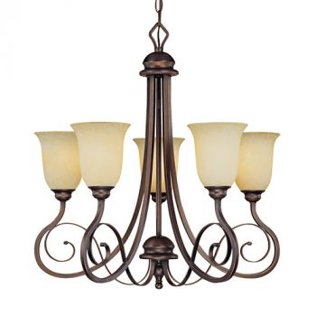 Millennium Lighting Chateau 5-Light Chandelier in Rubbed Bronze