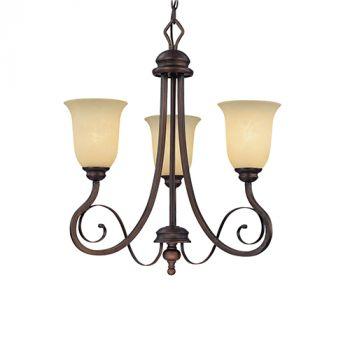 Millennium Lighting Chateau 3-Light Chandelier in Rubbed Bronze