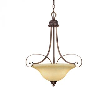Millennium Lighting Chateau 3-Light Pendant in Rubbed Bronze