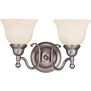 Maxim Lighting Soho 2-Light Bath Vanity in Satin Nickel