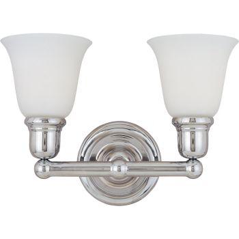 Maxim Lighting Bel Air 2-Light Bath Vanity, Polished Chrome
