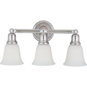 Maxim Lighting Bel Air 3-Light Bath Vanity, Polished Chrome
