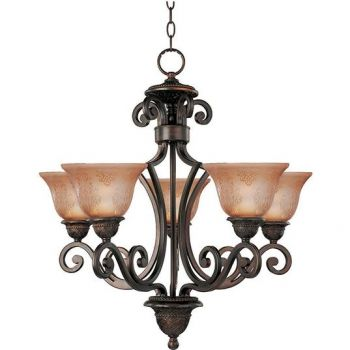 Maxim Lighting Symphony 5-Light Chandelier in Oil Rubbed Bronze