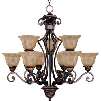 Maxim Lighting Symphony 9-Light Chandelier in Oil Rubbed Bronze