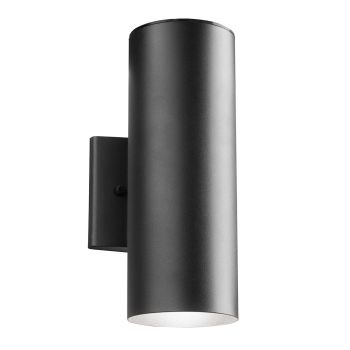 Kichler Signature 2-Light Small Outdoor Wall Light in Textured Black