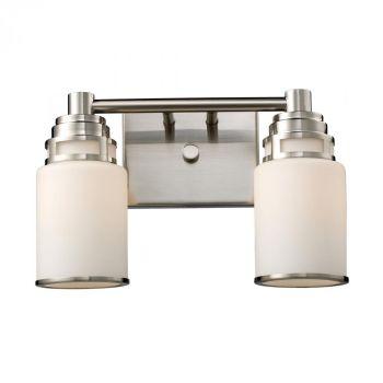 """ELK Bryant 2-Light 14"""" Bathroom Vanity Light in Satin Nickel"""