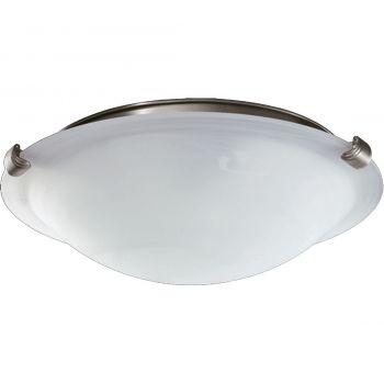 """Quorum Kit 12"""" 2-Light Ceiling Fan Light Kit in Satin Nickel"""