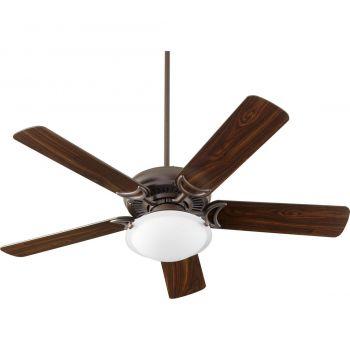 """Quorum Kit 12"""" 2-Light Ceiling Fan Light Kit in Oiled Bronze"""