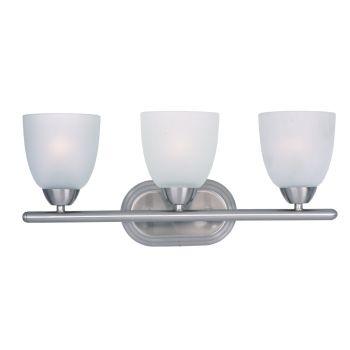 Maxim Lighting Axis 3-Lt Bath Vanity in Satin Nickel Finish