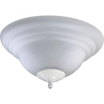 """Quorum Kit 13.25"""" 2-Light Ceiling Fan Light Kit in Satin Nickel/White"""