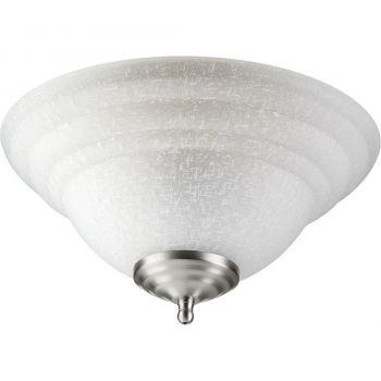"""Quorum Kit 13.25"""" 2-Light Ceiling Fan Light Kit in Satin Nickel/Bronze"""