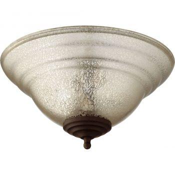 Quorum Kit 2-Light Ceiling Fan Light Kit in Satin Nickel/Oiled Bronze