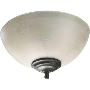 """Quorum Kit 10.75"""" 2-Light Ceiling Fan Light Kit in Sienna/Old World"""
