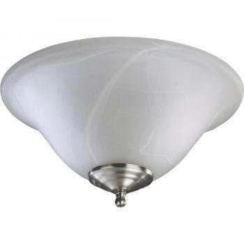 """Quorum Kit 13"""" 2-Light Ceiling Fan Light Kit in Satin Nickel/White"""