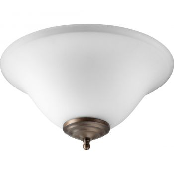 """Quorum Kit 13"""" 2-Light Ceiling Fan Light Kit in Satin Nickel/Bronze"""
