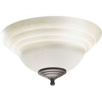 "Quorum Kit 12.75"" 2-Light Fan Light Kit in Toasted Sienna/Old World"