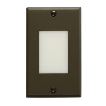 "Kichler Step and Hall 4.5"" LED Lens Step Light in Architectural Bronze"