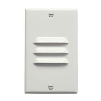 "Kichler Step and Hall 4.5"" LED Vertical Louver Step Light in White"