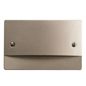 """Kichler Step & Hall 3.25"""" 4-Light Non Dimmable LED Step in Brushed Nickel"""