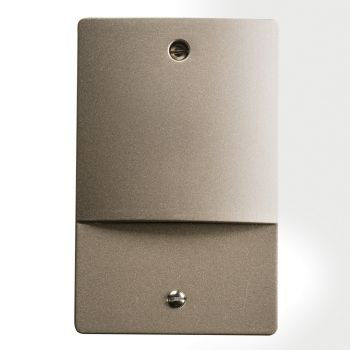 "Kichler Step and Hall 5"" 4-Light 3000K LED Step Light in Brushed Nickel"