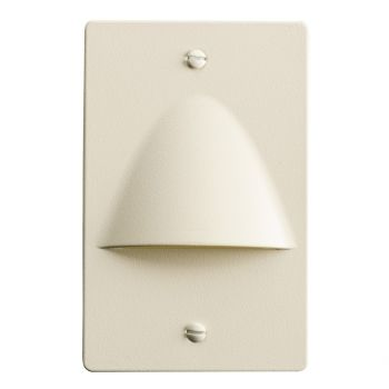 "Kichler Step and Hall 5"" 4-Light LED Step Light in Almond"