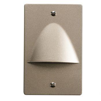 "Kichler Step and Hall 5"" 4-Light LED Step Light in Brushed Nickel"