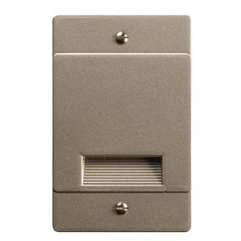 """Kichler Step & Hall 1.75"""" 4-Light LED Step Light in Brushed Nickel"""