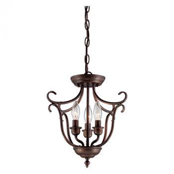Millennium Lighting Fulton 3-Light Foyer/Hall Lantern in Rubbed Bronze