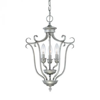 Millennium Lighting Fulton 3-Light Foyer/Hall Lantern in Rubbed Silver