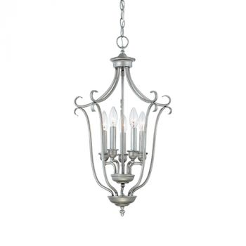 Millennium Lighting Fulton 5-Light Foyer/Hall Lantern in Rubbed Silver