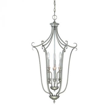 Millennium Lighting Fulton 6-Light Foyer/Hall Lantern in Rubbed Silver