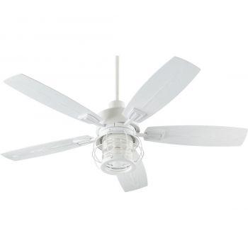 "Quorum International Galveston 52"" Outdoor Ceiling Fan in Studio White"