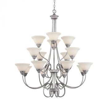 Millennium Lighting Fulton 16-Light Chandelier in Rubbed Silver