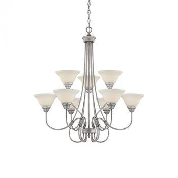 Millennium Lighting Fulton 9-Light Chandelier in Rubbed Silver