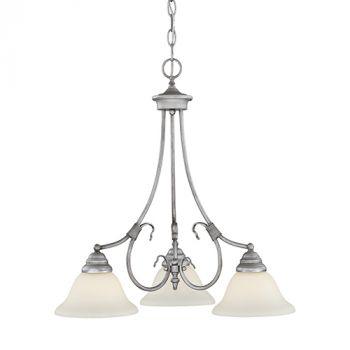 Millennium Lighting Fulton 3-Light Chandelier in Rubbed Silver