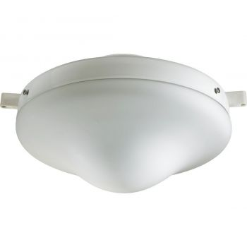 """Quorum Kit 10"""" Patio Ceiling Fan Light Kit in White"""