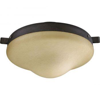 "Quorum Kit 10"" Patio Ceiling Fan Light Kit in Toasted Sienna"