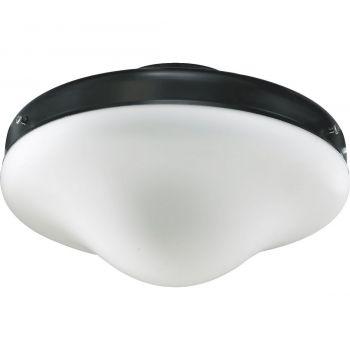 """Quorum Kit 10"""" Patio Ceiling Fan Light Kit in Matte Black"""