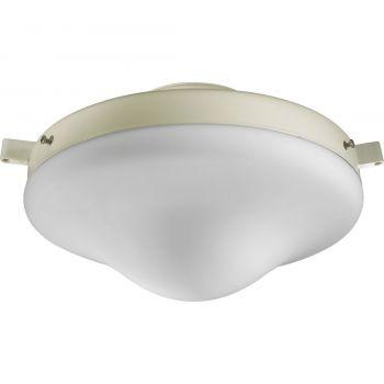 """Quorum Kit 10"""" Patio Ceiling Fan Light Kit in Antique White"""