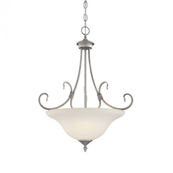 Millennium Lighting Fulton 3-Light Pendant in Rubbed Silver