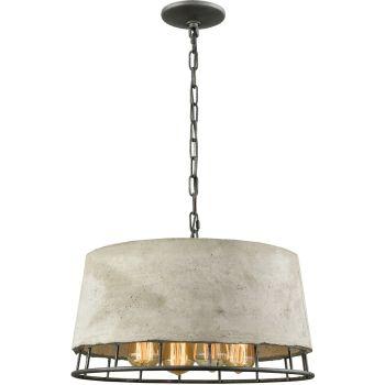 """Elk Lighting Brocca 18"""" 4-Light Chandelier in Silverdust Iron"""