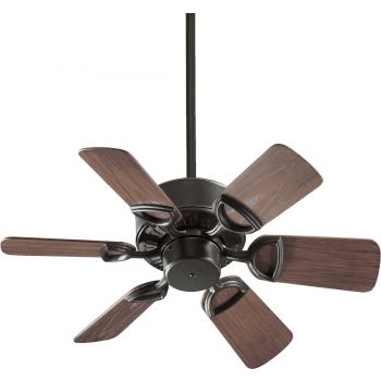 "Quorum Estate Patio 30"" 6-Blade Patio Fan in Old World"