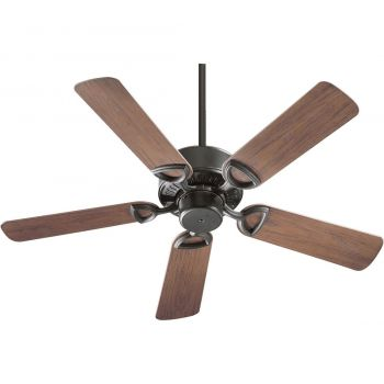 "Quorum Estate Patio 42"" 5-Blade Patio Fan in Old World"