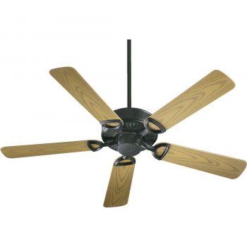 """Quorum Estate Patio 52"""" 5-Blade Indoor/Outdoor Fan in Matte Black"""