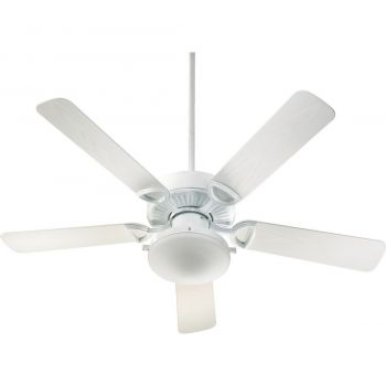 "Quorum Estate Patio 52"" 2-Light Patio Fan in White"