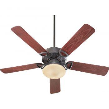 "Quorum Estate Patio 52"" 2-Light Patio Fan in Toasted Sienna"