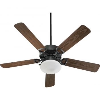 "Quorum International Estate Patio 2-Light 52"" Outdoor Ceiling Fan in Old World"