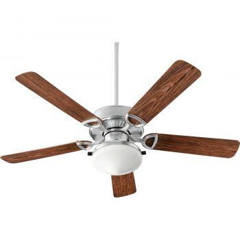 """Quorum Estate Patio 52"""" 2-Light Patio Fan in Galvanized"""