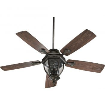 "Quorum Baltic Patio 52"" 3-Light Patio Fan in Oiled Bronze"
